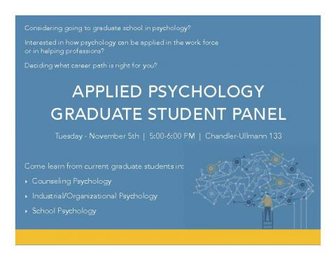 Applied Psychology Graduate Student Panel