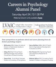 LVAIC Careers in Psychology Alumni Panel