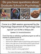Info Session:  Grad School in Psychology