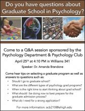 Info Session:  Grad School in Psychology